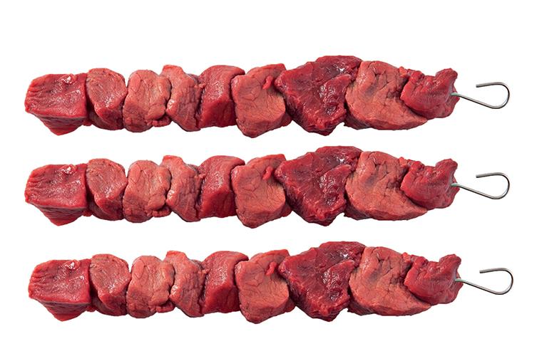 Natuurvlees Biefstuk spies